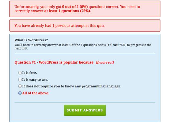 Wrong Answer Response